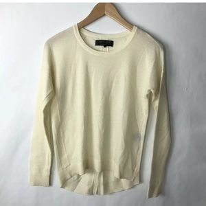 Rag and bone sweater everly ivory merino wool xxs